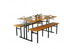 Стол обеденный с обвязкой каркаса по периметру 1000-700-760