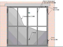 Гаражные ворота  2.5м х 2.2м без калитки