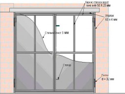 Гаражные ворота  2.5м х 2.5м без калитки